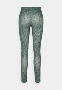 ONLY - ONLARIA LONG - Leggings - Trousers - balsam green/black - 1