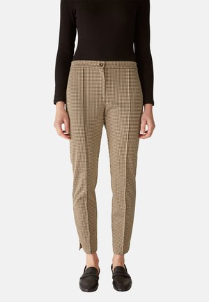 MIT JACQUARD-MUSTER - Trousers - beige