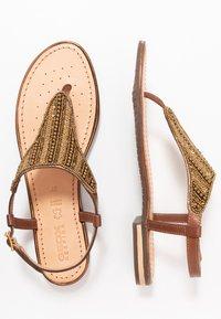 Geox - SOZY PLUS - T-bar sandals - cognac - 3