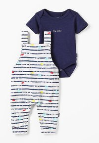 Noppies - DUNGAREE ROMPER RIFLE BABY ZGREEN - Body - patriot blue - 0