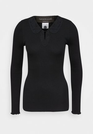 REGULAR COLLAR - Top sdlouhým rukávem - black