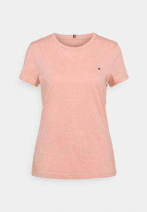 NEW CREW NECK TEE - T-shirts - soothing pink