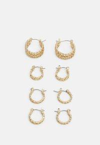 Pieces - PCPANZI HOOP EARRINGS 4 PACK - Earrings - gold-coloured - 0