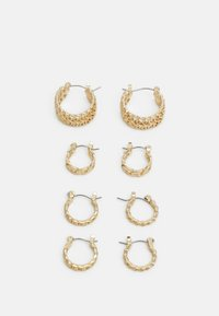 PCPANZI HOOP EARRINGS 4 PACK - Earrings - gold-coloured