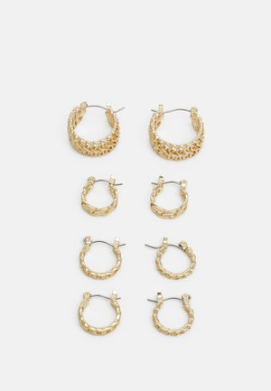 PCPANZI HOOP EARRINGS 4 PACK - Øreringe - gold-coloured