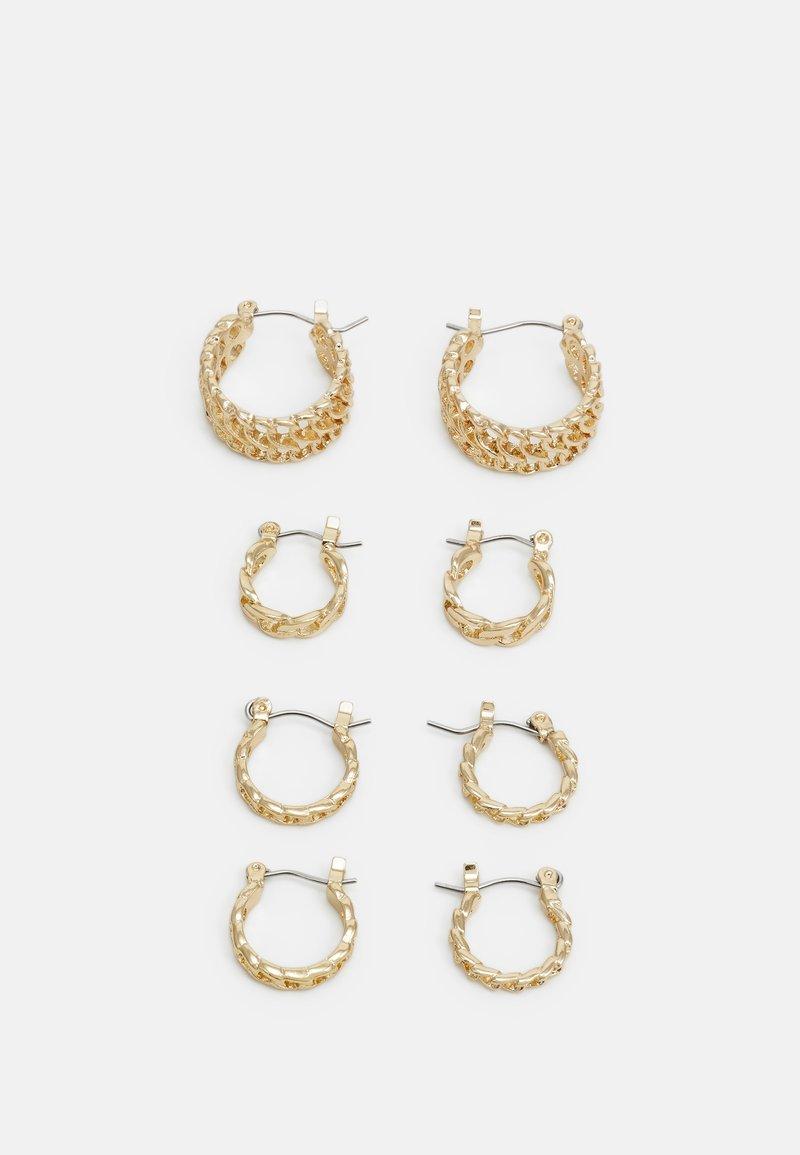 Pieces - PCPANZI HOOP EARRINGS 4 PACK - Earrings - gold-coloured