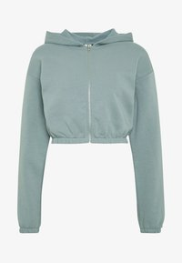 Nly by Nelly - CROPPED ZIP HOODIE - Zip-up hoodie - gray - 4