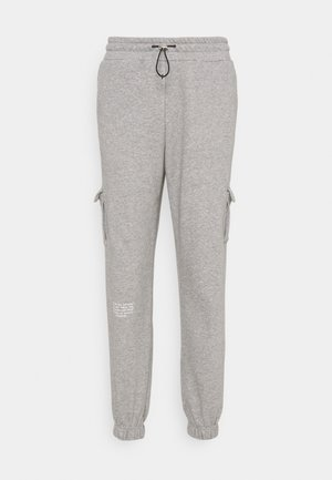 PANT - Tracksuit bottoms - grey heather/white