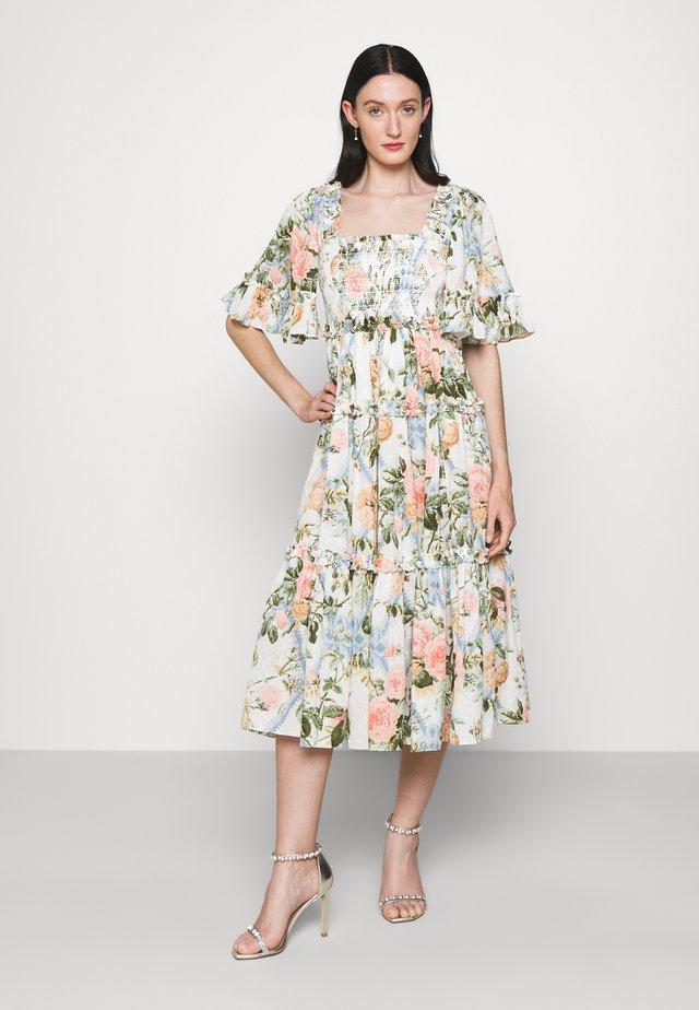 ROSE GARDEN SMOCKED MIDAXI DRESS - Day dress - moonshine
