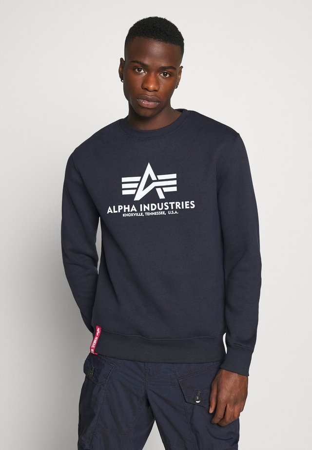 BASIC REFLECTIVE PRINT - Sweatshirt - blue