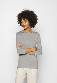 Tommy Hilfiger - BOAT NECK TEE 3/4 - Long sleeved top - grey - 0
