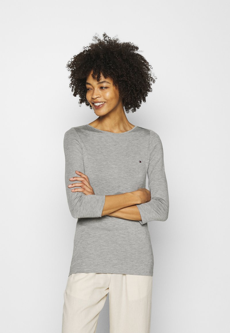 Tommy Hilfiger - BOAT NECK TEE 3/4 - Long sleeved top - grey