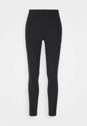 LEGASEE ZIP - Leggings - Trousers - black/white