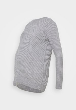 CREW NECK JUMPER - Svetr - grey marl