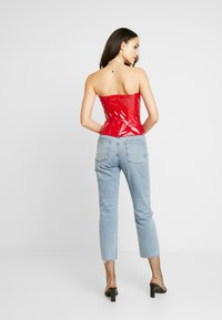 Missguided - CORSET BANDEAU - Topper - red - 2