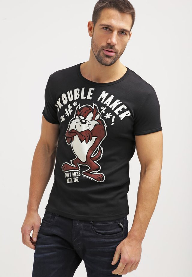 LOONEY TUNES TROUBLE MAKER - Print T-shirt - black