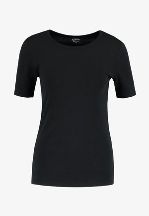 CREWNECK ELBOW SLEEVE - T-Shirt basic - black