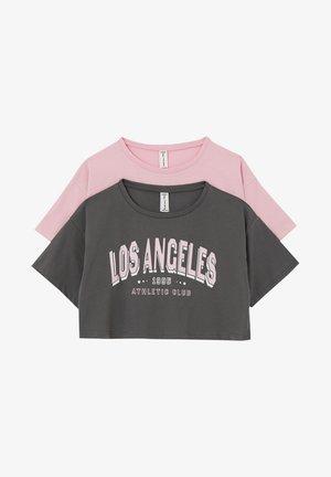 2 PACK - T-shirt print - grey