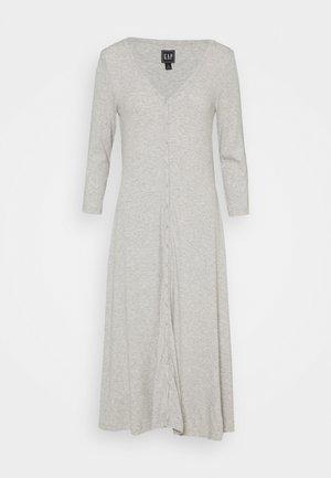 Pletené šaty - light heather grey