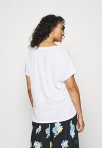CAPSULE by Simply Be - PACK OF SLOUCH 2 PACK - T-shirts - black/white - 2