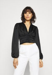 Gina Tricot - VICTORIA BLOUSE - Long sleeved top - black - 0