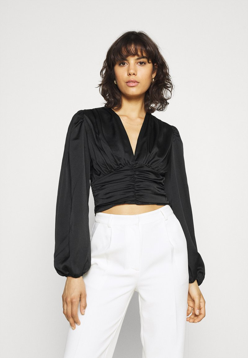 Gina Tricot - VICTORIA BLOUSE - Long sleeved top - black