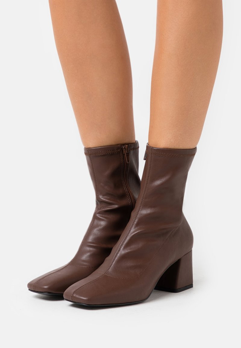 Monki - VEGAN LEIA BOOT - Classic ankle boots - brown