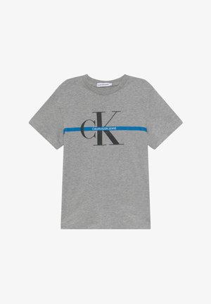 MONOGRAM STRIPE - Print T-shirt - grey