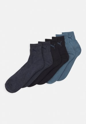 SHORT CREW UNISEX 6 PACK - Sports socks - denim blue