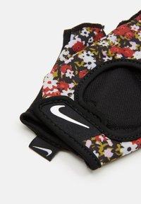 Nike Performance - WOMENS GYM ULTIMATE FITNESS GLOVES - Fingerless gloves - firewood orange/black/white - 2