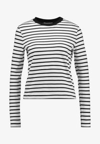 PIXIE LONGSLEEVE - Long sleeved top - black/off white