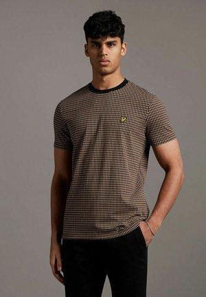 RETRO REPEAT  - Print T-shirt - tawny brown