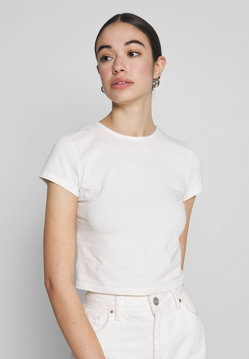 Nly by Nelly - PERFECT CROPPED TEE - T-shirt basic - white