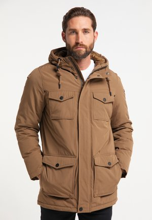Winter jacket - dunkelbeige