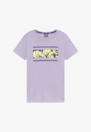 ALPHA TEE  - Triko spotiskem - purple heather