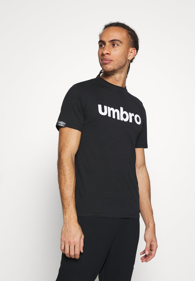 LINEAR LOGO GRAPHIC TEE - T-shirt z nadrukiem - black