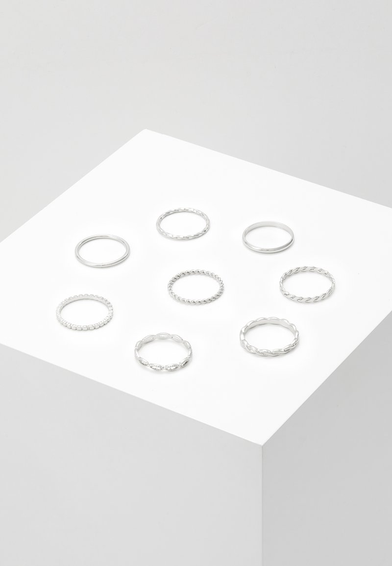 Topshop - CHAIN LINK 8 PACK - Ring - silver-coloured