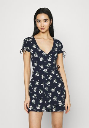 DRESS - Žerzejové šaty - navy floral