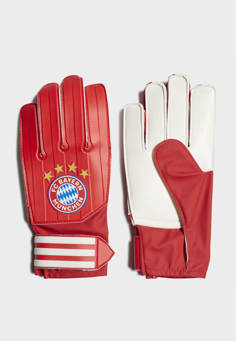 adidas Performance - FC BAYERN GOALKEEPER TRAINING GOALKEEPER GLOVES - Goalkeeping gloves - red