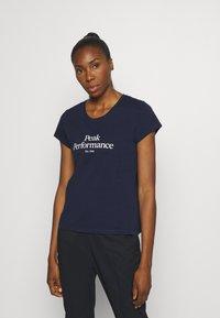 Peak Performance - ORIGINAL TEE - T-shirt con stampa - blue shadow - 0
