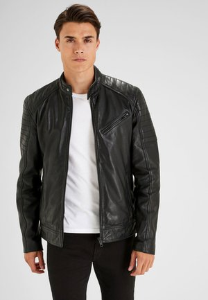 SIGNATURE  - Leather jacket - black