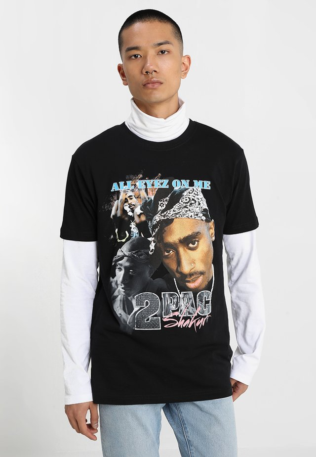TUPAC RETRO TEE - T-Shirt print - black
