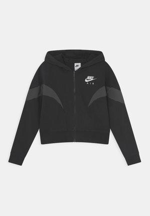 AIR  - Zip-up sweatshirt - black/dark smoke grey/white