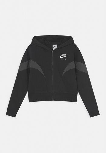 AIR  - Felpa con zip - black/dark smoke grey/white