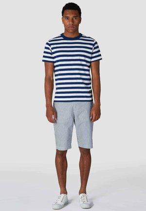 Shorts - navy fine stripe