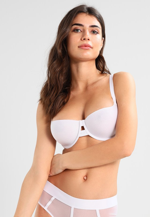 SHEERS T SHIRT BRA MOULDED CUP - Biustonosz balkonetka - white