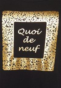 Zizzi - BOXY TEE WITH FOLD UP - Print T-shirt - black - 2