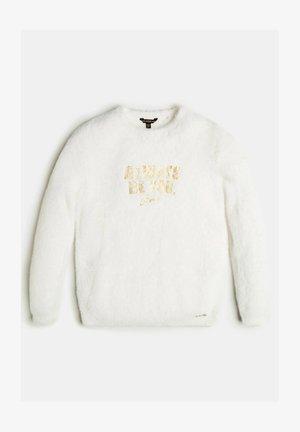 KUNSTFELLOPTIK - Fleece jumper - mehrfarbig beige