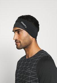 Craft - LUMEN HEADBAND UNISEX - Ear warmers - black - 0