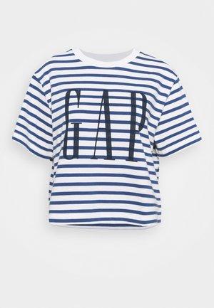 BOXY TEE - T-shirt con stampa - navy stripe